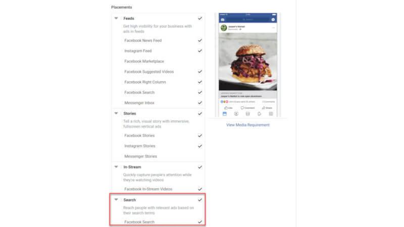 Facebook Arama Reklamı