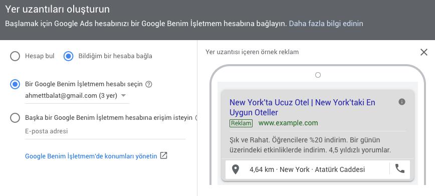 Google Ads Google My Business Hesaplarını Bağlamak