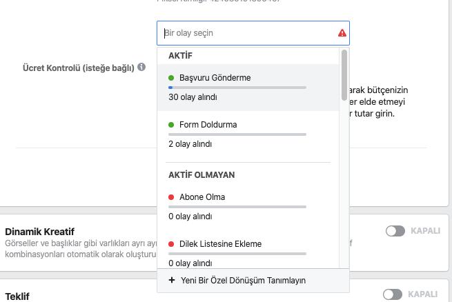 Facebook Özel Dönüşüm (Conversion) Oluşturma