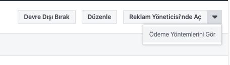 Facebook Business Manager Ödeme Yöntemleri