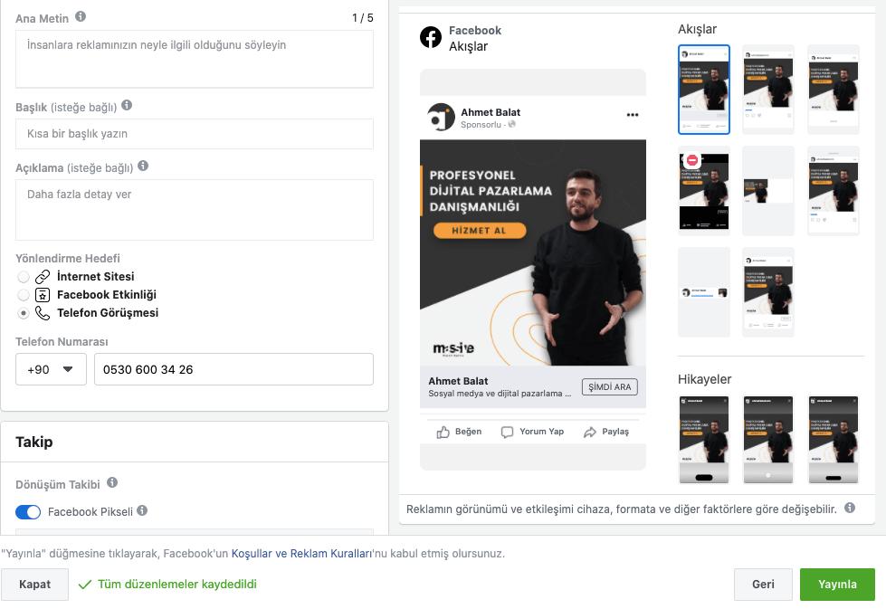 Facebook Şimdi Ara (Telefonla Arama) Reklamları Nasıl Yapılır?