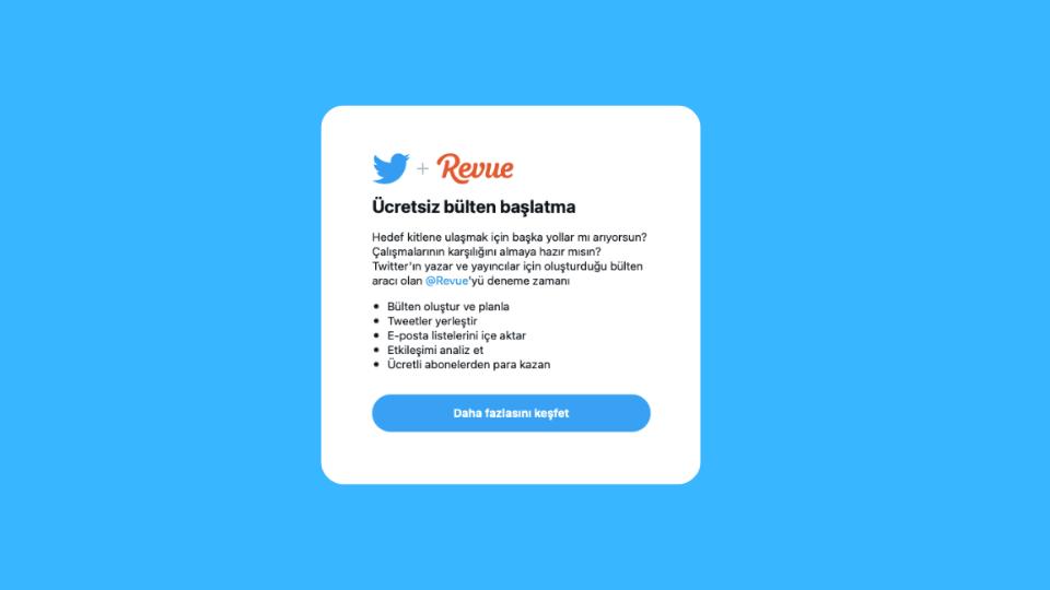 Twitter Revue'yü Türkiye'de Test Ediyor