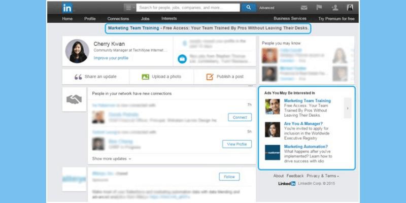 Linkedin Sponsorlu Inmail Reklamları