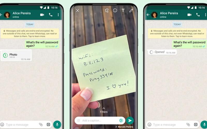 Whatsapp tek gösterimlik fotoğraf özelliği