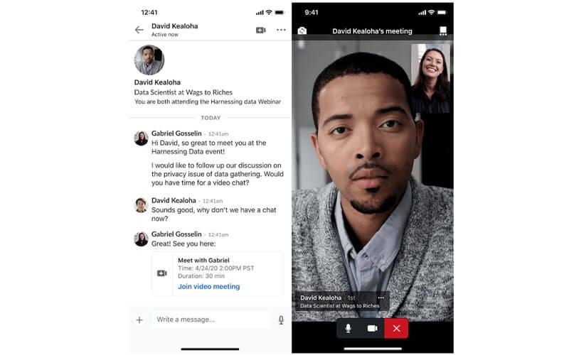 Linkedin, uygulama içi görüntülü toplantı seçeneği ekledi